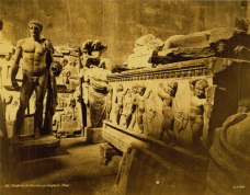 Pascal Sebah (1823-1886, active Constantinople). Interior of the Theseion, showing the sculpture collection of the then National Museum of Athens, ca. 1872-1873. Albumen silver print, 26.1 x 32.7 cm.