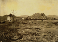 William James Stillman (Stati Uniti,1828-1901), The Acropolis from thehill above the Ilissus, looking north-west, 1869. From The Acropolis of Athens (1870), Plate 4 . Carbon print, 17.6 x 23 c m (61 5 /i6 x 95 /i6 in.)