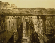 William James Stillman (American, 1828-1901), Western portico of the Parthenon, from above, showing the frieze in its original position, the only portion which remains so, 1869. From The Acropolis of Athens (1870), Plate 12. Carbon print, 18.9 x 23.3 cm.