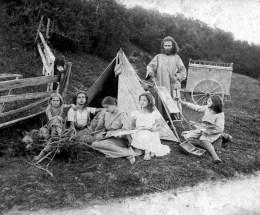 Diefenbach con la famiglia sulle Alpi ad Überquerung