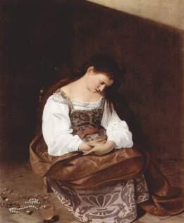 Maddalena penitente 1594-1595, olio su tela 122,5 × 98,5 cm, Galleria Doria Pamphilj.