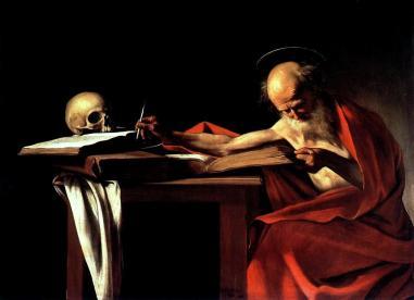 San Gerolamo scrivente 1605 circa, olio su tela 112 × 157 cm, Galleria Borghese - Roma.