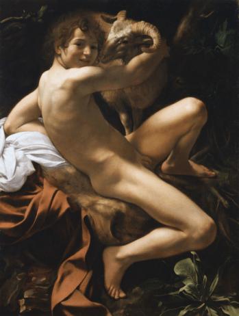 San Giovanni Battista 1602, olio su tela 129 × 94 cm, Pinacoteca Capitolina Musei Capitolini