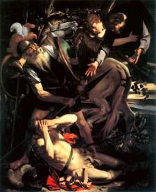 Conversione di San Paolo 1600-1601, olio su tavola di cipresso 237 × 189 cm, Collezione privata Odescalchi Balbi.