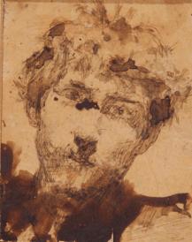 Autoritratto a dodici anni, inchiostro a penna e acquerellato, GDS 2600