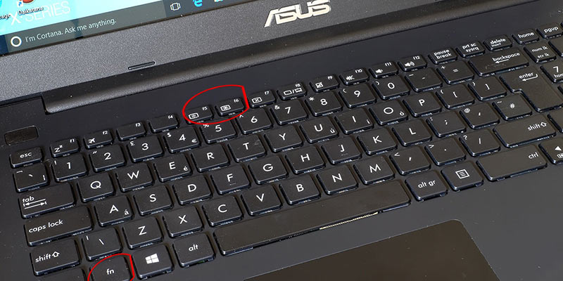 Keyboard keys to change asus laptop brightness