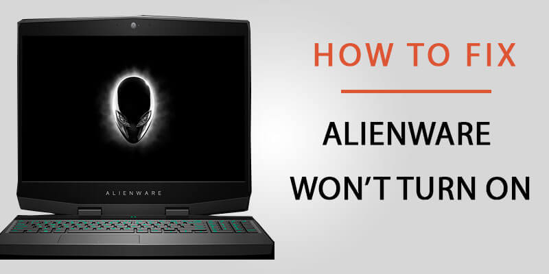 Alienware laptop black screen