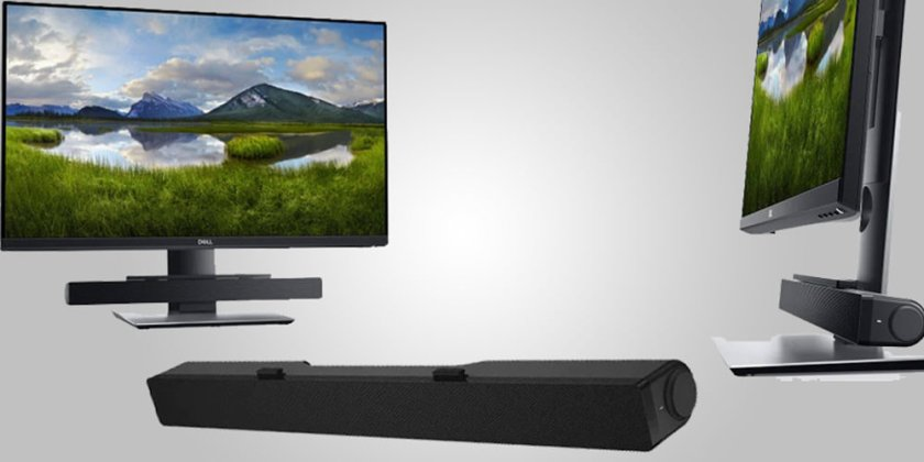 Dell AC 515M Soundbar on Dell Ultrasharp monitorwith good stereo sound