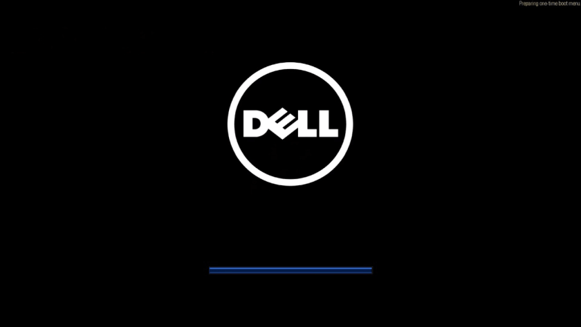 Dell computer preparing one time boot menu