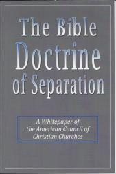 Bible Doctrine of Separation