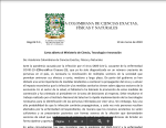 Carta abierta Covid 19 de la ciencia en Colombia.