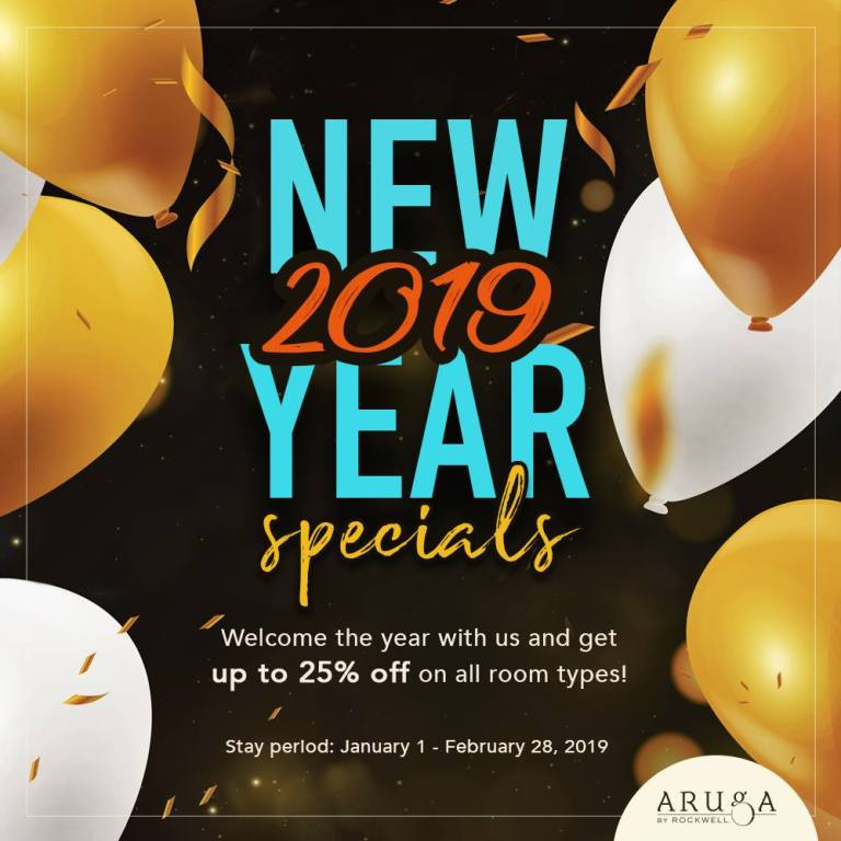 Aruga by Rockwell New Year Specials