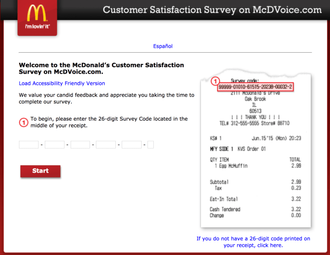 McDVoice Survey Homepage