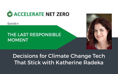 The Last Responsible Moment – Decisions for Climate Change Tech That Stick
