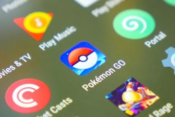 Pokemon Go app icon on phone