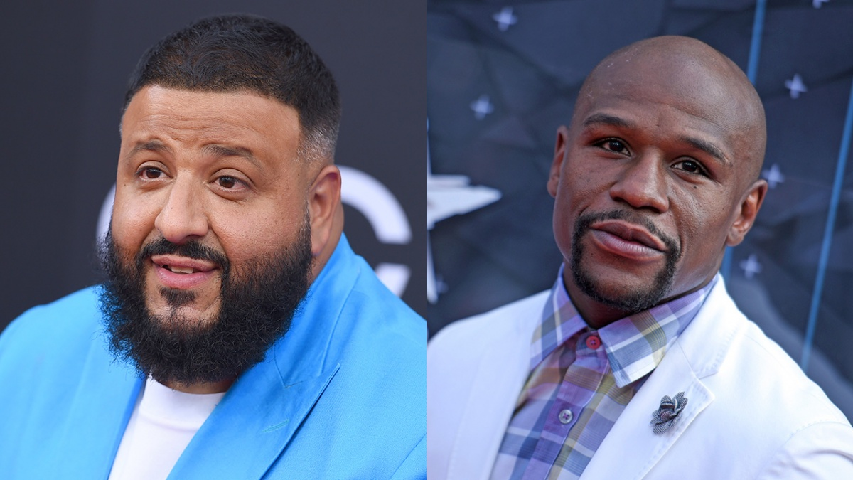 dj khaled and floyd mayweather