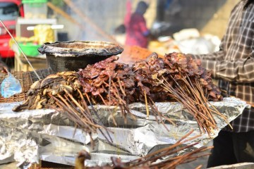 food suya meat