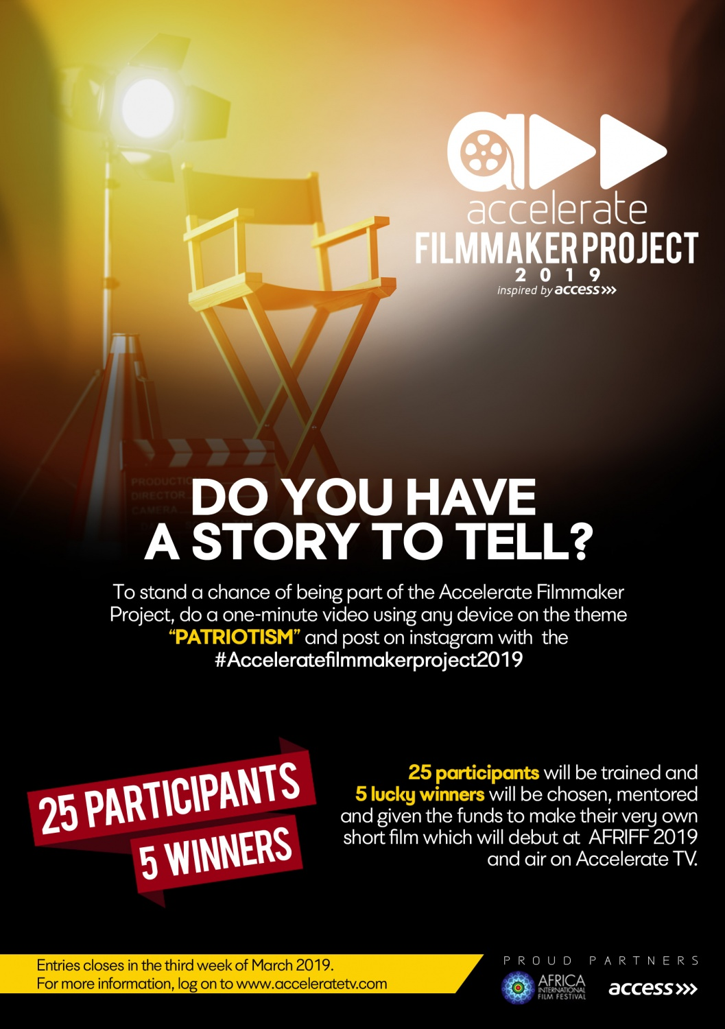 AFMAP_2019_Flier accelerate filmmaker project