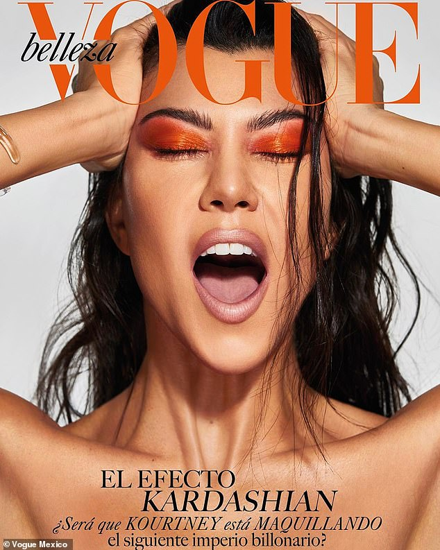 kourtney kardashian on vogue