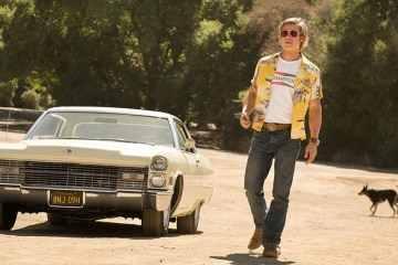 - ONCE UPON A TIME IN HOLLYWOOD brad pitt