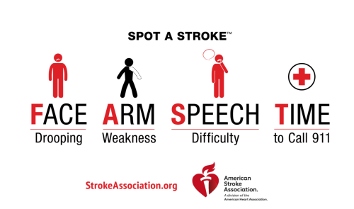Image: American Heart Association Signs of a Stroke