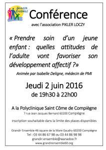 Conférence Pikler Loczy 2 juin 16 compiegne