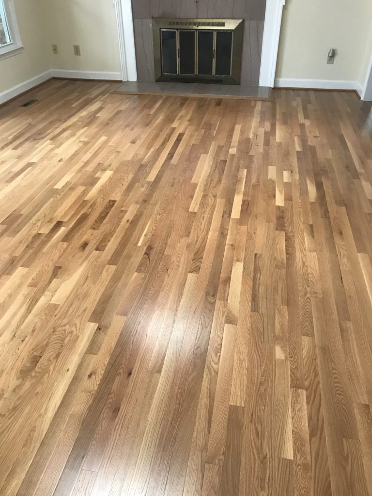 Select Red Oak With Custom Stain Accent Hardwood Flooring