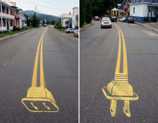 unplugged road art