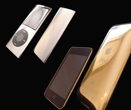 ipod gold silver