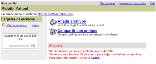 Maletín Yahoo