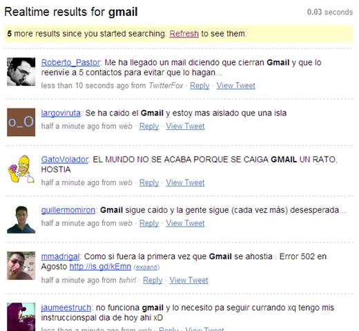 gmail twitter buzz