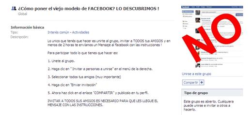 Volver al viejo Facebook