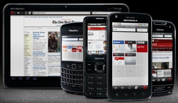 Navegador Opera para dispositivos móviles