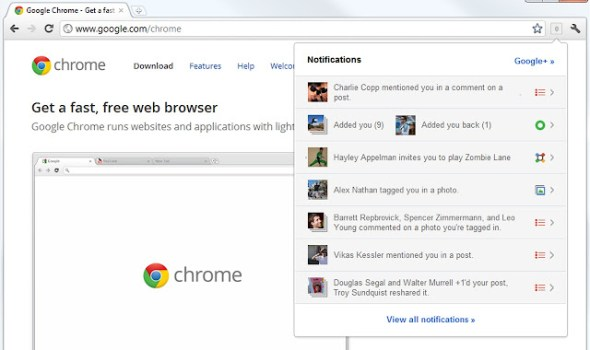 Notifications Chrome Extension