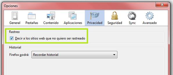 Do Not Track Firefox
