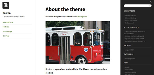 Boston-Wordpress-Theme