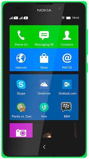Nokia XL frente