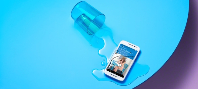 Moto G 3 agua