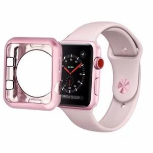husa roz apple watch din silicon