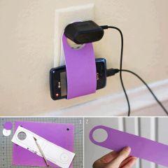 Hazte un porta enchufe para tu móvil