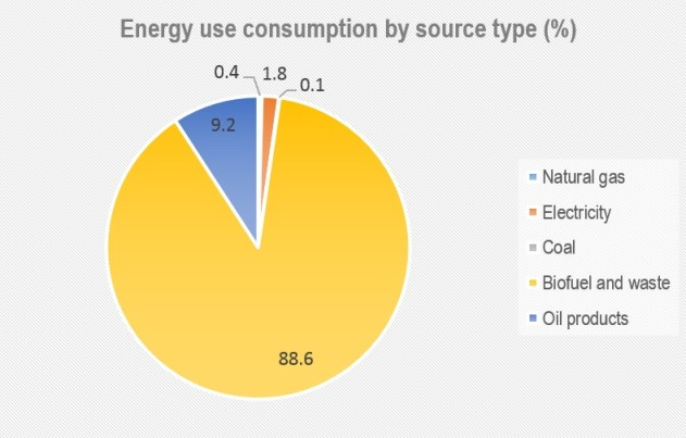 energy by source Tanzania