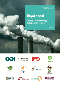 Beyond coal: Scaling up clean energy to fight global poverty
