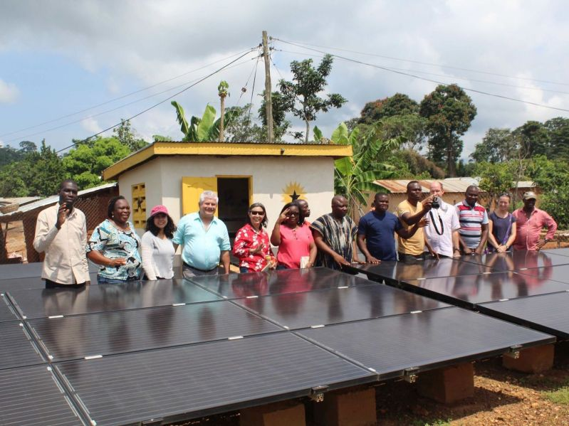 V4CP energy team at Black Star MiniGrid in Ghana