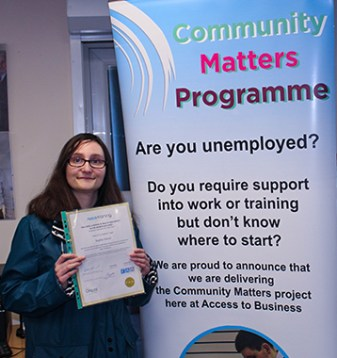 Volunteer, Volunteering, Support, employment, training, skills, building, skills building, skills building, skillset, community, community matters, work, confidence, project, women, woman, case study, success story, successful, achievement