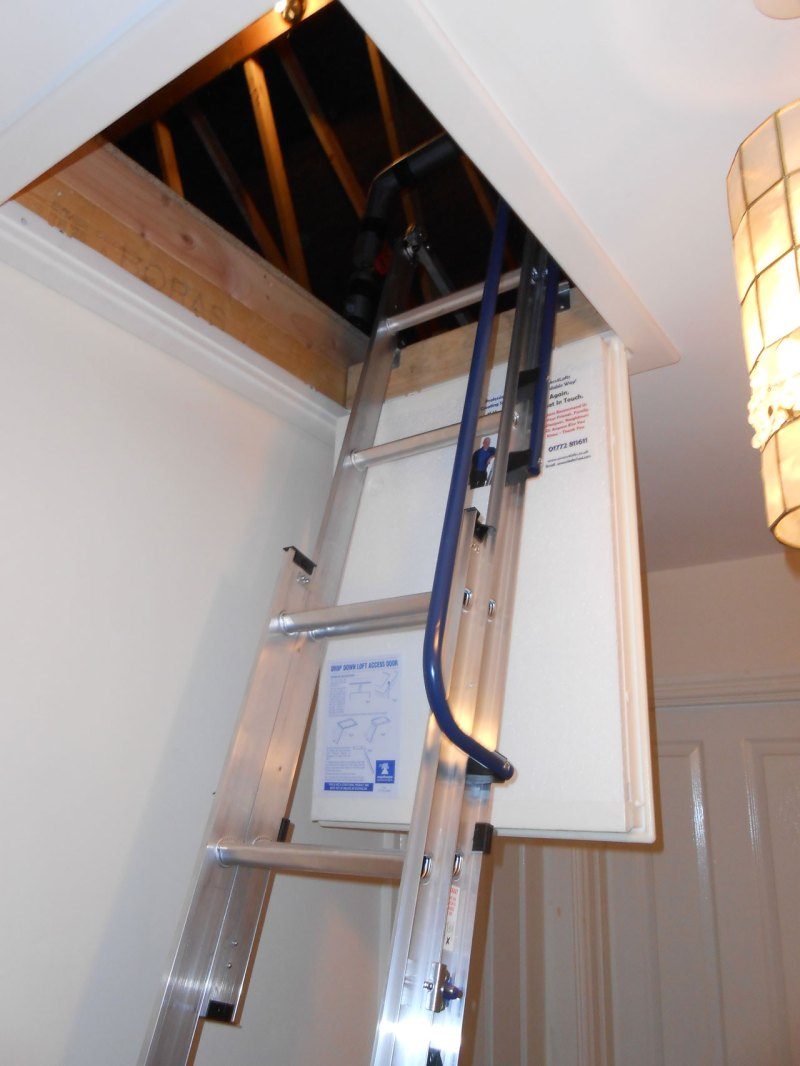 Loft ladder fitted