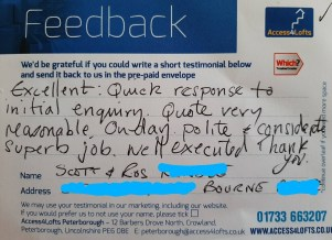 image of feedback from customer