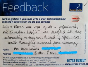 image of delighted customer feedback
