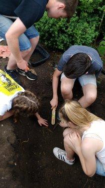 Careful excavation needed for delicate bones!