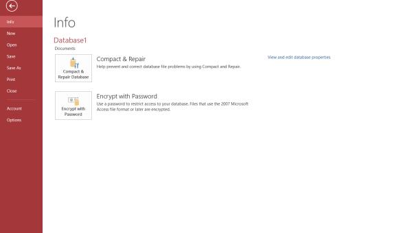Encrypt Access 2016 database
