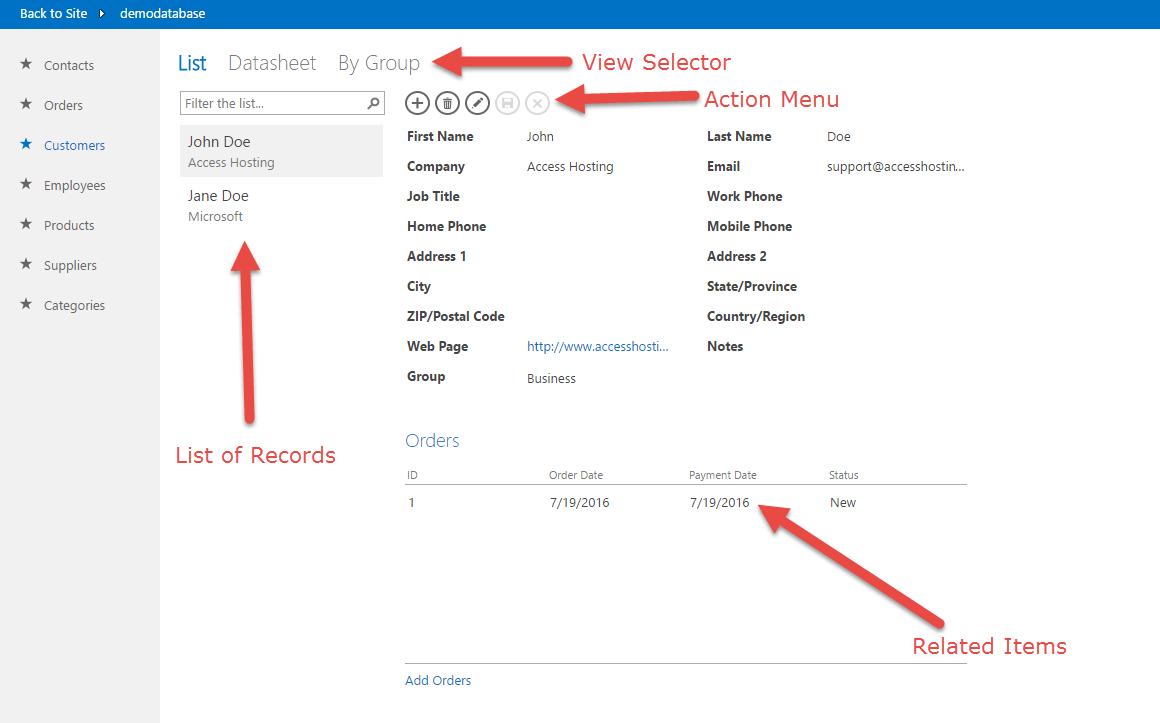Getting Started with an Access Wep App in Sharepoint